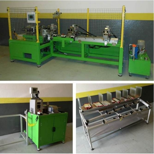 Automatic machines for punching, drilling and bending
